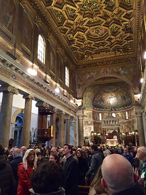 Basilica of Santa Maria in Trastevere, Rome, Italy—Happy Easter from The Flower Lady, Milwaukee Florist!