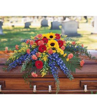 Bright Casket Spray