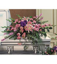 A Stylish Casket Arrangement