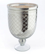 Hayworth Lattice Etched Footed Urn