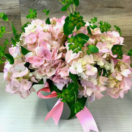 Bouquet of Pink Hydrangeas
