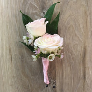 Touch of Pink Boutonniere