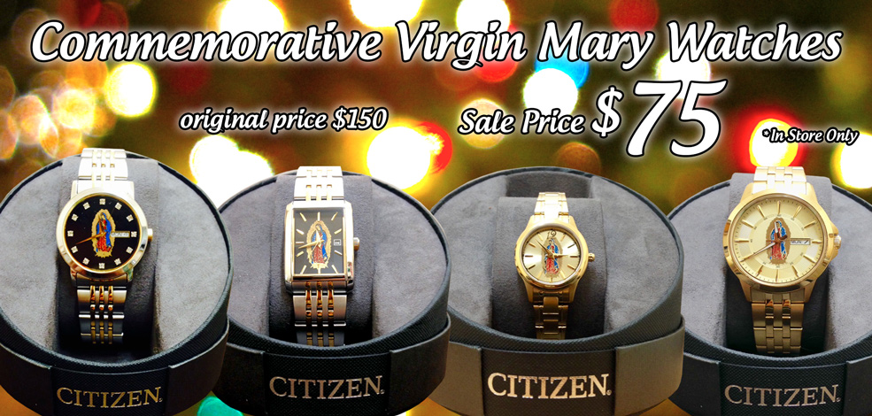 Citizen Virgin Mary Watches for $75