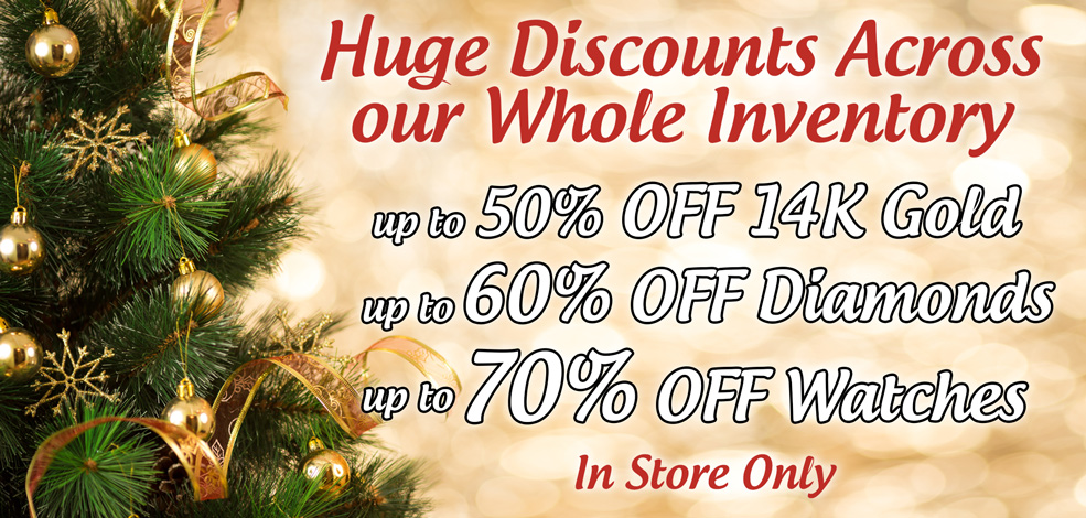 Huge Discount across our whole inventory