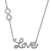Love Silver Pendant- CZ - 0.925 - PW031