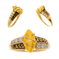 Graduation Ring / Gold 14K - 2.6 Gr. - ORO-P12