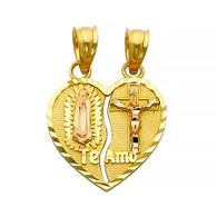 Yellow Gold Pendant - 14 K - PT406