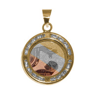 Yellow / White / Red Gold Baptism Medal  - BPT006