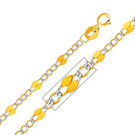 Yellow Gold Chain - 14 K. Stamped Figaro - 3.2 mm - CH133