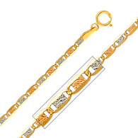 Yellow / White / Red Gold Chain - Valentino DC - 2.1 mm - CH117