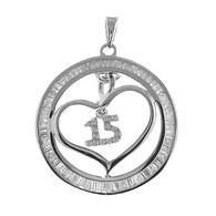 Forever 15 - Silver Pendant with CZ - 4.6 gr. - FFS01