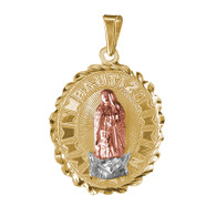 Yellow / White / Red Gold Baptism Medal  - 2.1 gr - V210