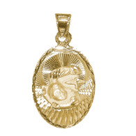 Yellow Gold Baptism Medal - 14 K - 1.7 gr. - V170
