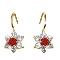 Forever 15 - Gold Earrings with CZ - 14 K - 580701R