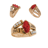 Junior High Graduation Ring - 14K Gold - 3.8 Gr. - ORO-P07