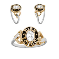 Graduation Ring / Yellow & White Gold -3.9 Gr. - ORO-P05