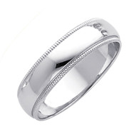 White Gold Wedding Band (5mm - 4.3Gr.) - BMR050W