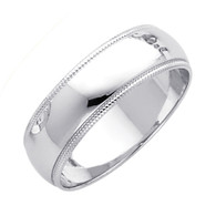 White Gold Wedding Band (6mm - 4.9Gr.) - BMR060W