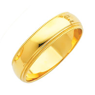 Yellow Gold Wedding Band (5mm - 4.3Gr.) - BMR050