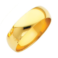 Yellow Gold Wedding Band (6mm - 5.0Gr.) - BR060