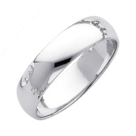 White Gold Wedding Band (5mm - 4.4Gr.) - BR050W