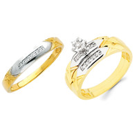 Yellow / White Gold Trio Set - TDR14