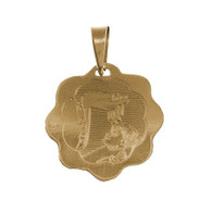 Yellow Gold Baptism Medal - 14 K - BPT014