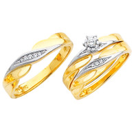 Yellow / White Gold Trio Set - TDR05