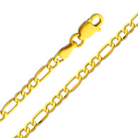 Yellow Gold Chain - 14 K. Figaro -2.6 mm - CH158