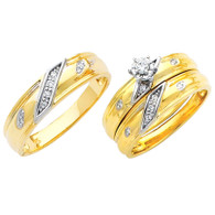 Yellow / White Gold Trio Set - TDR04