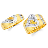 Yellow / White Gold Trio Set - TDR01