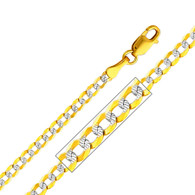 Yellow / White / Red Gold Chain - Cuban WP - 2.7 mm - CH129
