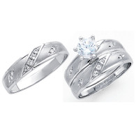White Gold Trio Set - 14 K - TC201