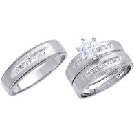 White Gold Trio Set - 14 K - TC199