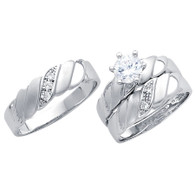 White Gold Trio Set - 14 K - TC197