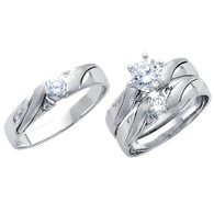 White Gold Trio Set - 14 K - TC191