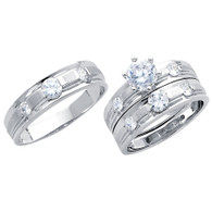 White Gold Trio Set - 14 K - TC189