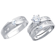 White Gold Trio Set - 14 K - TC187