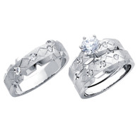 White Gold Trio Set - 14 K - TC183