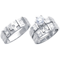White Gold Trio Set - 14 K - TC181