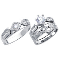 White Gold Trio Set - 14 K - TC179