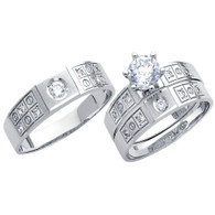 White Gold Trio Set - 14 K - TC177