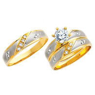 Yellow / White Gold Trio Set - TC135