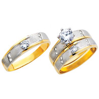 Yellow / White Gold Trio Set - TC131