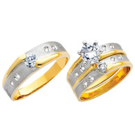 Yellow / White Gold Trio Set - TC127