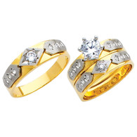 Yellow / White Gold Trio Set - TC121