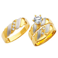 Yellow / White Gold Trio Set - TC115