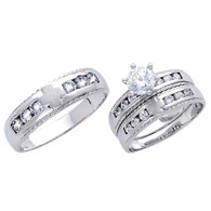 White Gold Trio Set - 14 K - TC173