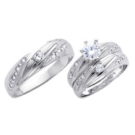 White Gold Trio Set - 14 K -  TC167