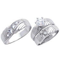 White Gold Trio Set - 14 K - TC163
